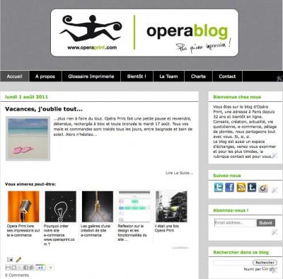 Blog version 1 sur Blogger