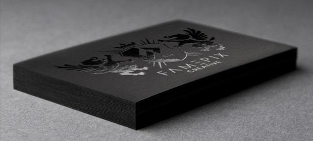 carte de visite papier plike noir