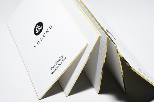 Carte de visite avec dorure or sur tranche