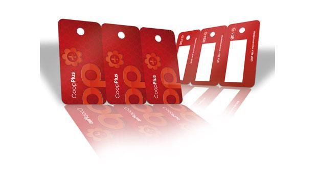 Carte plastique sécable / Carte plastique tri-carte perforée pour porte-clé