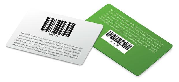 Carte Plastique Avec Code Barre