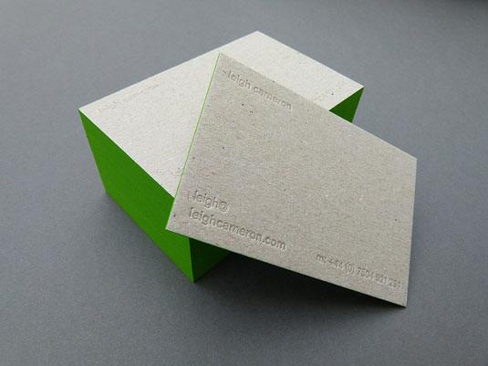 letterpress-recyclé et tranche verte