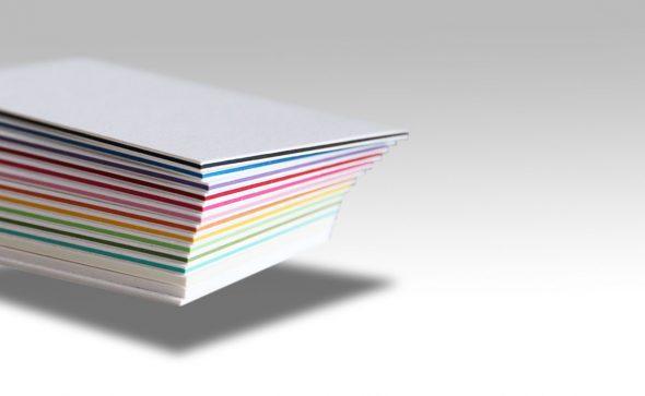 cartes de visite avec insert de couleur