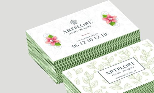 cartes de visite tranche verte