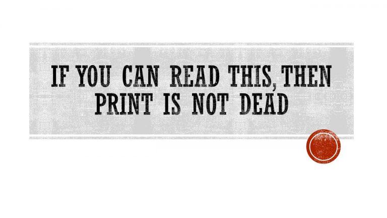 Le papier : mort ou vif ?