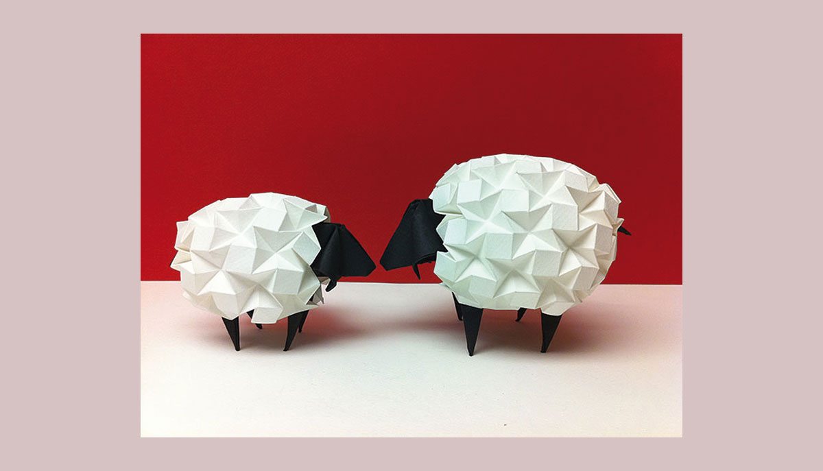 Pliage origami effet pop-up